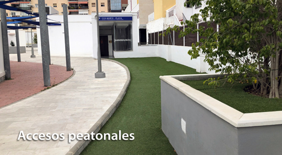 Acceso peatonal Parking