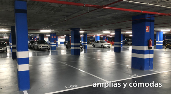 Plazas parking amplias
