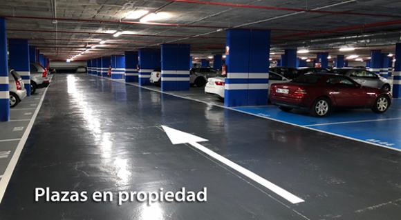 Plazas de garaje en propiedad